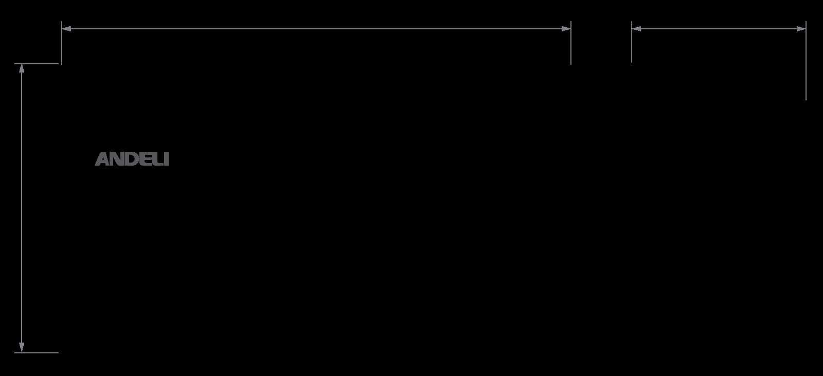 Габариты автоматического ввода резерва (АВР) Andeli HATS-7